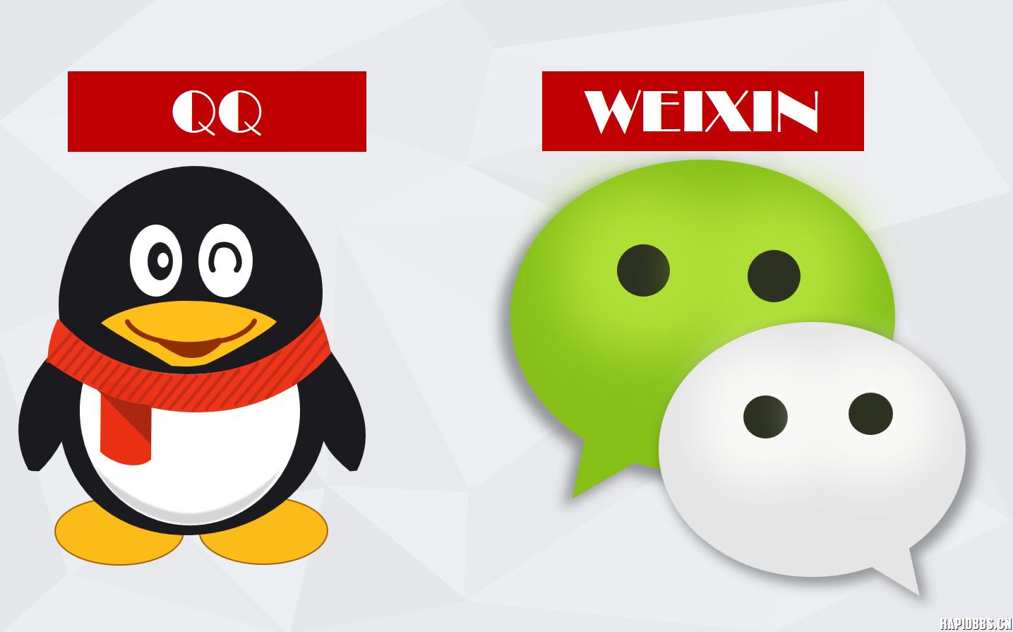 用ppt2016绘制的qq企鹅和微信